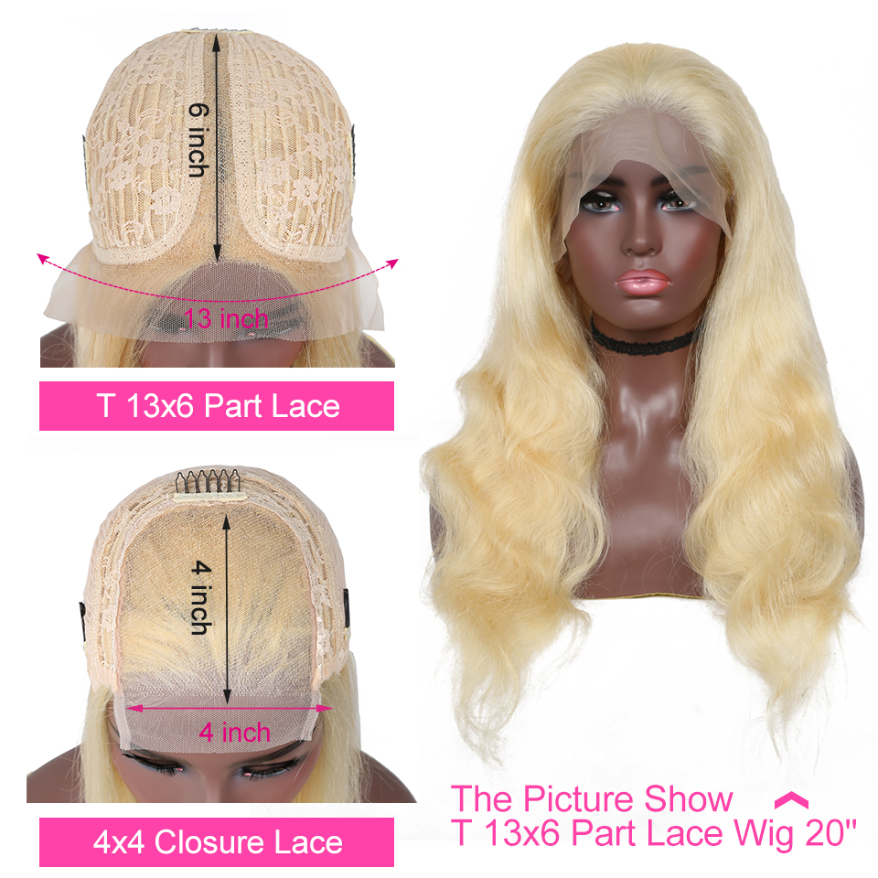 YYong 6x1 Topline Blond 613 Lace Part  Wig Pre Plucked With Baby Hair Body Wave  HD Transparent Lace Part Wig 30in 2