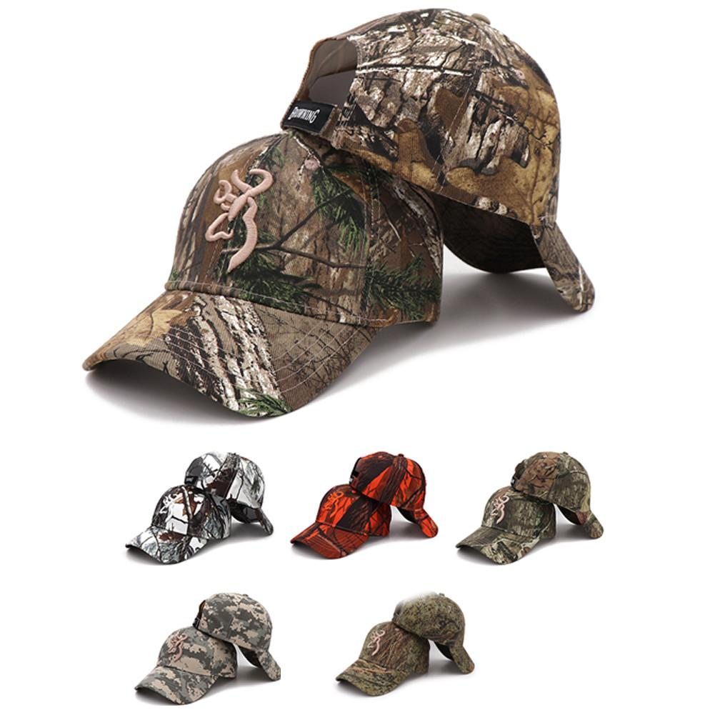 Outdoor Sports Unisex Camouflage Cap Browning Baseball Fishing Caps Men Outdoor Hunting Jungle Hat Hiking Camo Casquette Hats