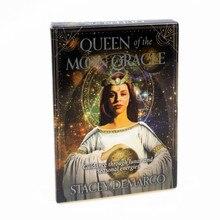 44pcs 달의 여왕 오라클 카드 고품질의 내구성 재미있는 타로 카드 데크 보드 게임 가족 파티 가정용 테이블 게임