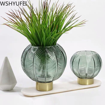 New style Ball-shaped glass vase Living room hydroponic plant Office desktop high-end decoration Studio decoration WSHYUFEI