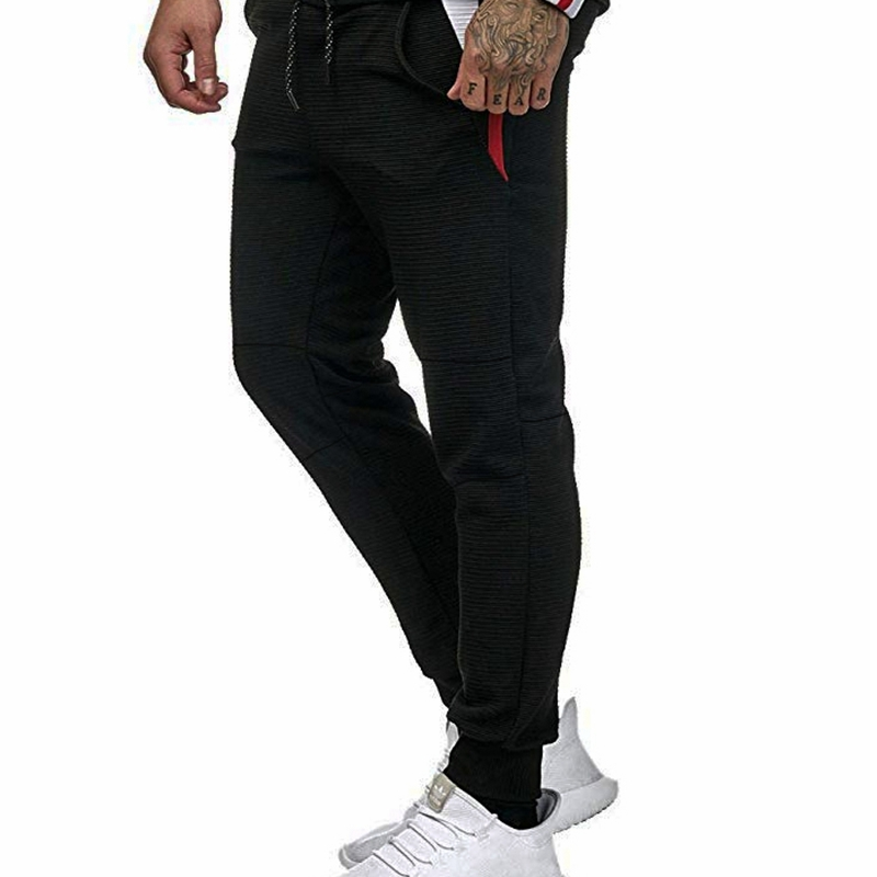 Autumn new men trousers splice contrast elastic waistband loose pants casual simple sports comfortable men trousers plus size in Casual Pants from Men 39 s Clothing