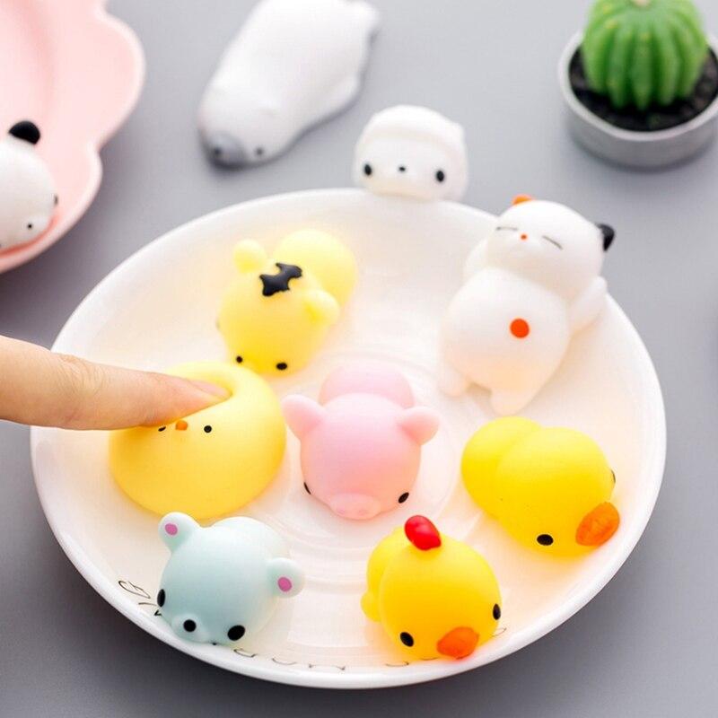 Мягкая игрушка милое животное антистрессовый шар Squeeze Mochi Rising Toys Abreact мягкая липкая сквиши снятие стресса забавная игрушка в подарок