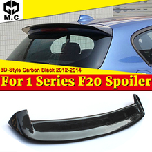 For BMW F20 Rear Trunk Spoiler wing True Carbon Fiber 3D-Style Duck Wing 1 Series 118i 120i 128i Rear Roof Spoiler Wings 2012-14 carbon fiber 2010 2012 crz rear wing roof spoiler