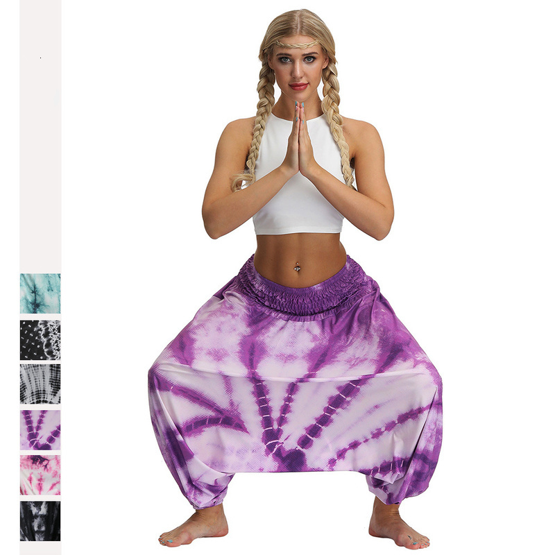 Women Bohemian Style Print Fashion Pants Femme Streetwear High Waist Trouser Plus Size Yoga Fitness Loose Indian Bloomers Outfit