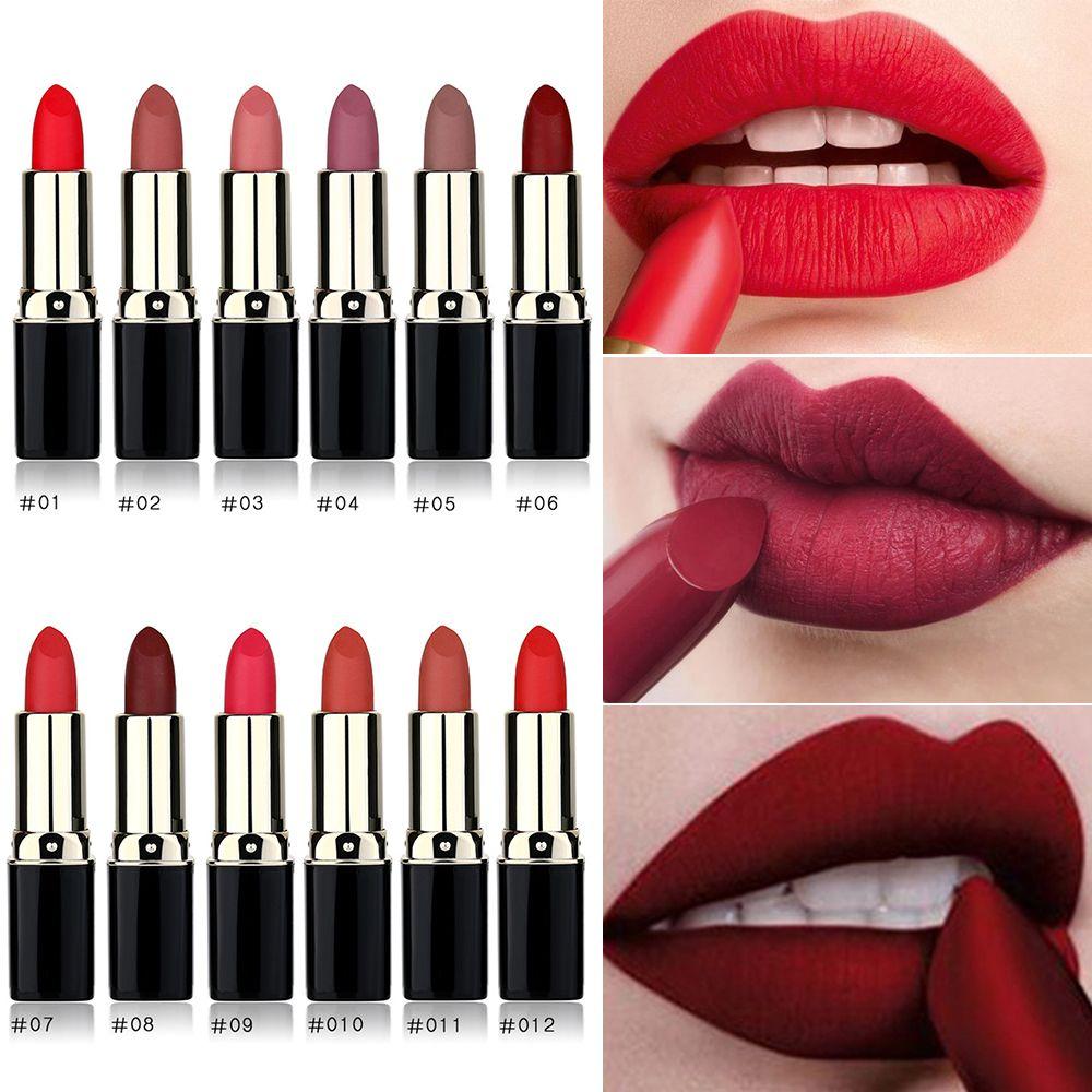 LULAA 12 Colors Matte Lipstick Sexy Lip Makeup Long Lasting Waterproof Lipstick Keep 24 Hours Women Beauty Cosmetic