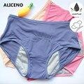 Большие размеры, L-5XL, менструальные трусики, физиологическая защита от протечек, женское нижнее белье, дышащие трусики с высокой талией, сет...