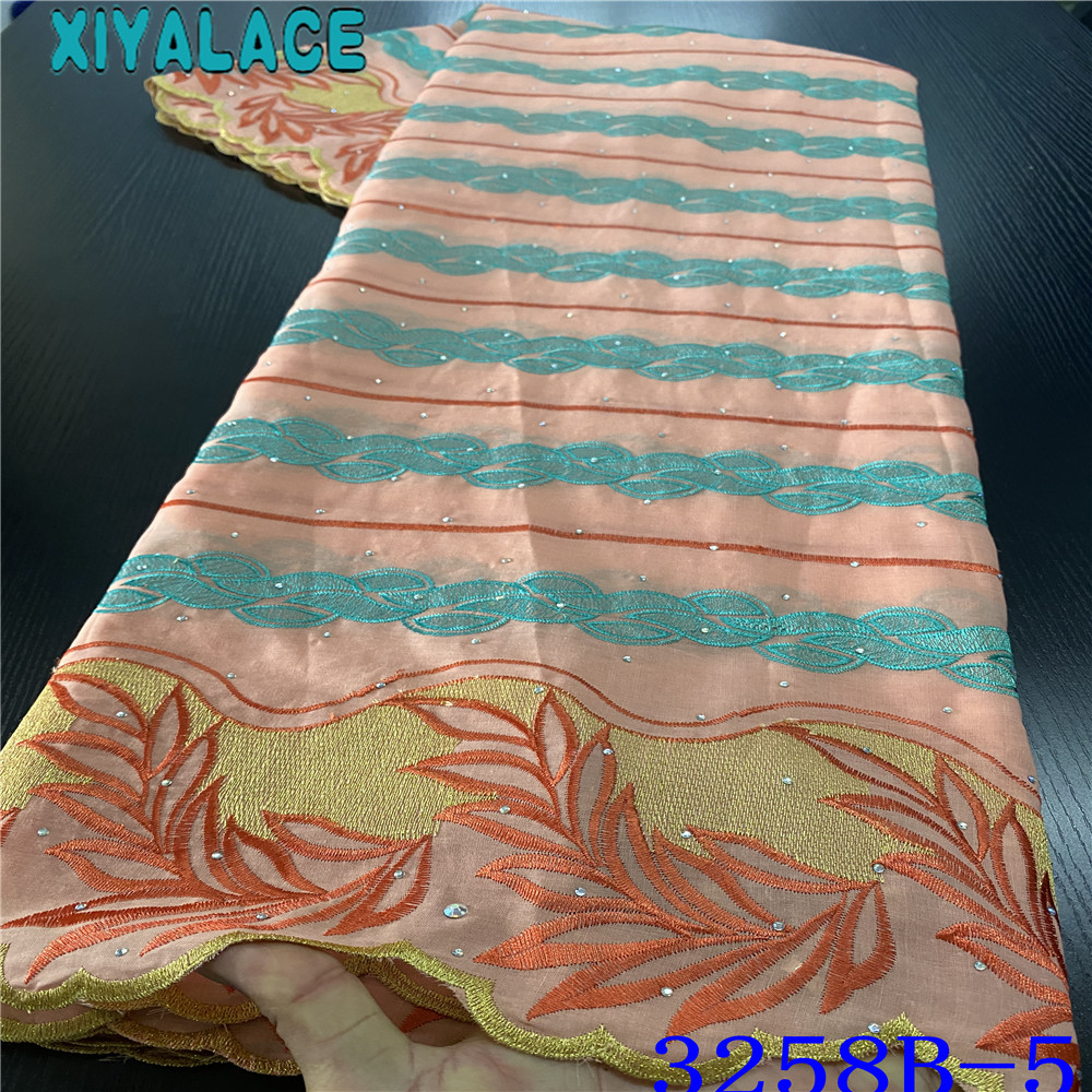 Top 2020 Latest Swiss Voile Lace Cotton Lace Soft Cotton Laces High Quality Embroidery Brode Lace  With Stones KS3258B