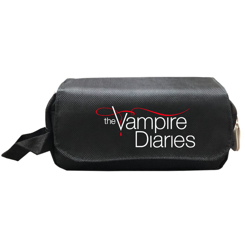 Makeup Bag The Vampire Diaries Cosmetic Case Boys Girls Double Layer Pencil Case Kids Storage Bags Purse Travel Organizer