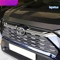 Lapetus Передняя Центральная решетка радиатора молдинги декоративная панель накладка 2 шт. подходит для TOYOTA RAV4 RAV 4 2019 2020 ABS