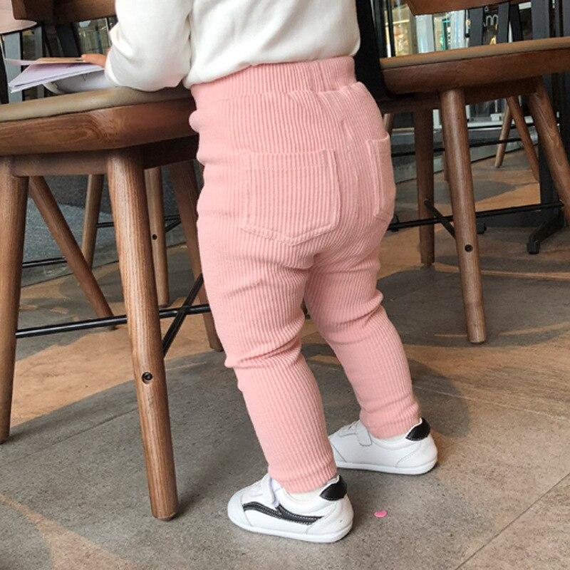 New Baby Girls Boys Leggings Cotton Big PP Pants Spring Autumn Kids Girl Pants Fashion High Waist Long Trousers Children's Pant 5