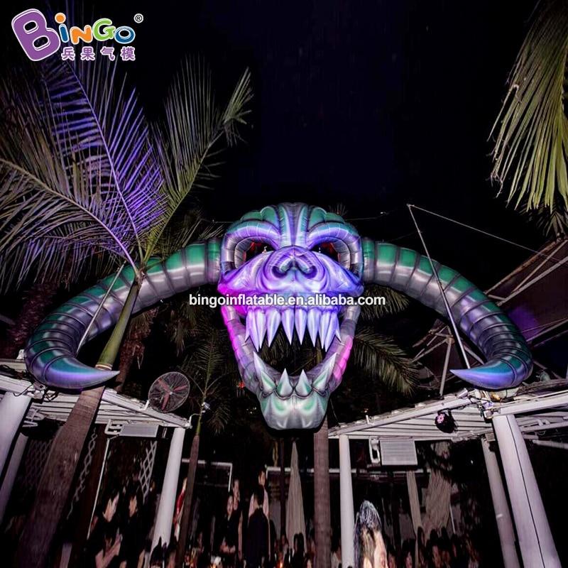 Halloween 2020 Length 2020 Halloween crazy decoration inflatable skull skeleton head 8m