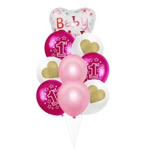8 Season First Birthday Partys Decoration 1st Baby Boy Girl Balloons For One Year Old Shower