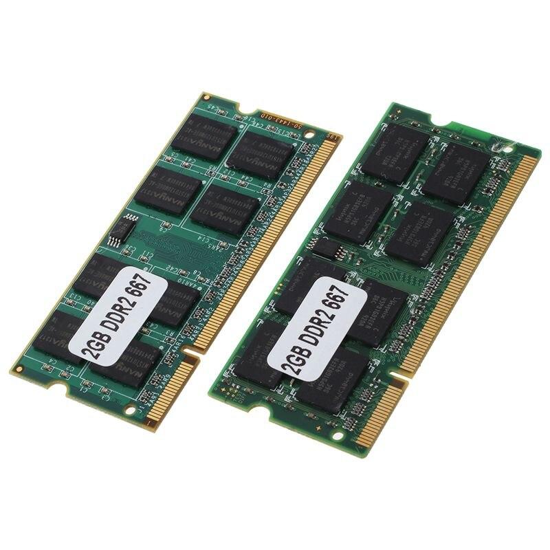 2x2 gb ddr2 PC2 5300 sodimm ram 메모리 667 mhz 200 핀 노트북 노트북-에서RAM부터 컴퓨터 및 사무용품 의