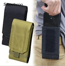 Outdoor Camouflage Bag Tactical Army Phone Holder Sport Waist Belt Case Waterproof Nylon EDC Hunting Camo Bags In Backpack