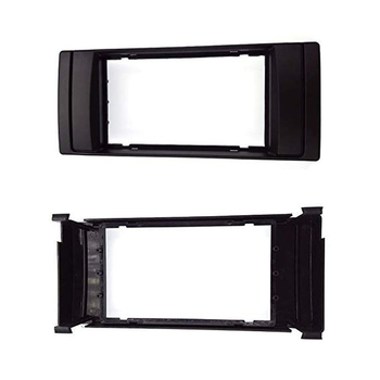 Double Din For BMW X5 (E53) 5 (E39) 1995-2003 Stereo Frame Radio DVD Stereo CD Panel Dash Kit Trim Fascia Face Plate Frame image
