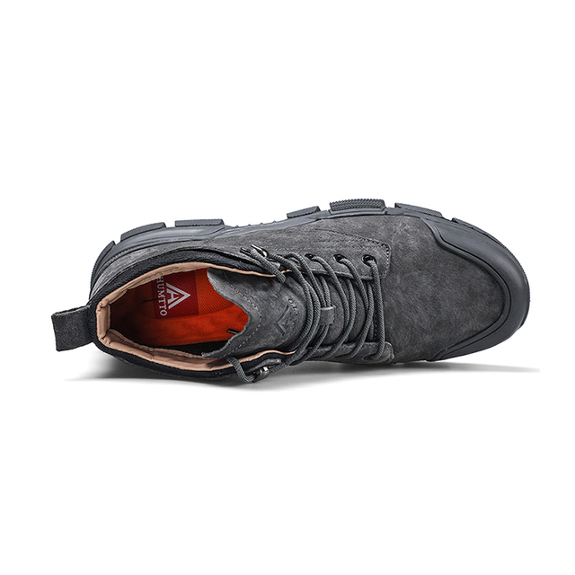 2019 New Lace-up Outdoor Hiking Shoes Soft Non-slip Brand Male Trekking Shoes Wear-resistant Genuine Leather Hunting Boots Men