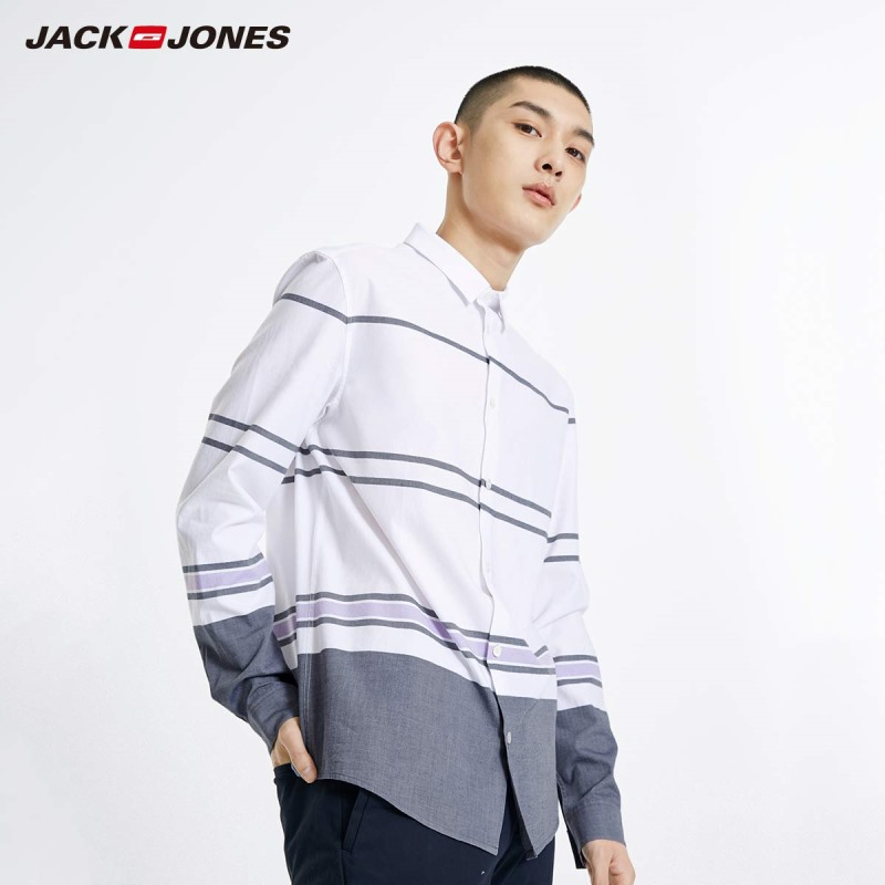 JackJones Men's 100% Cotton Stripe Shirt Style Menswear 219105510