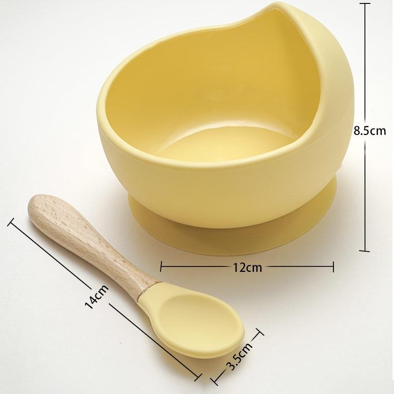 Bol ventouse en silicone pour bébé