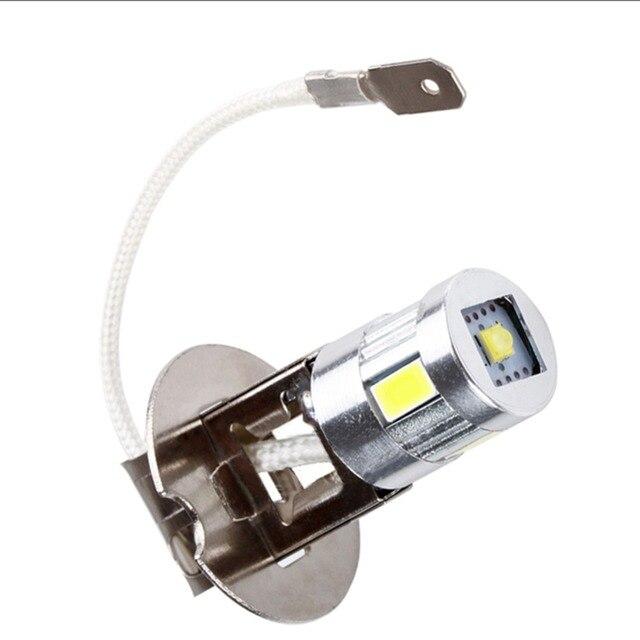 H3 LED ampuller araba sis lambası yüksek güç lamba 5630 SMD otomatik sürüş Led ampuller araba işık kaynağı park 12V 6000K kafa lambaları