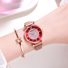 Luxury Rose Gold Women Watches Mesh Starry Sky Ladies Watch 2019 Fashion Diamond Roman Numeral Quartz Watch Relogio Feminino все цены