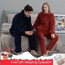 Sleepwear Suit Pajamas-Set Sweatshirt Couple Casual Winter Sale-Lovers Thick Men