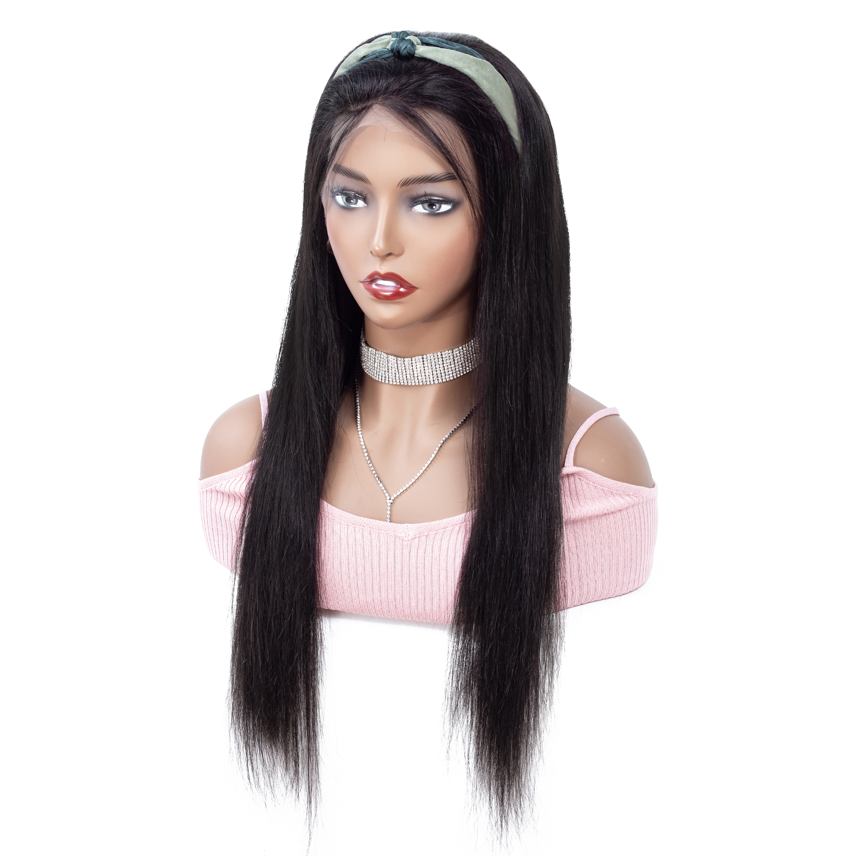 NAFUN 13x4 Lace Front Human Hair Wigs Peruvian Straight Lace Front Wig Natural Color Remy 10- 30 Inch Lace Wig Human Hair