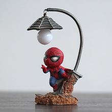 Супергероев, Человека-паука, Мстителей Union 3 светодиодный Батарея Ночной светильник смолы светильник приспособления для мальчиков рождественские подарки на день рождения лампа