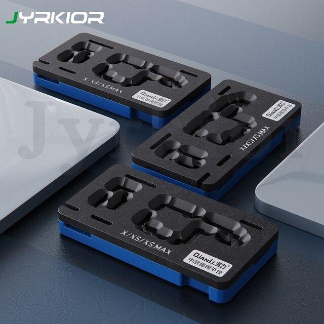 Qianli plateforme de pochoir de rebond BGA 3D, pour iPhone X, XS, 11 Pro MAX, carte mère, couche intermédiaire, plantation de modèles en étain, filet