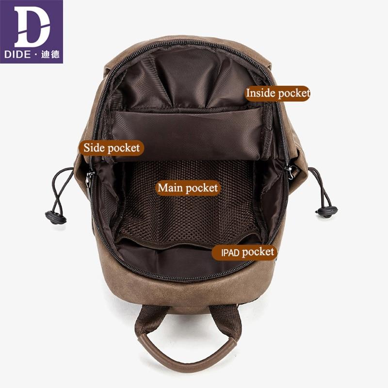 DIDE New Fashion Men Crossbody Bags Chest Pack Short Trip Messengers Bag Water Repellent Shoulder Bag Outdoor Travel