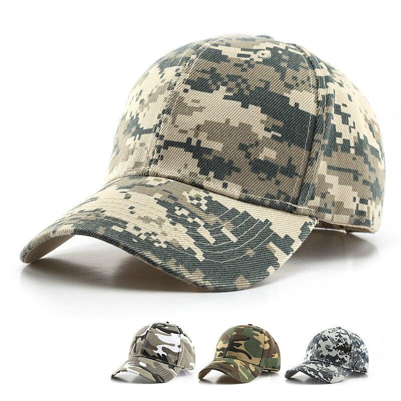 Digitale Männer Baseball Caps Armee Taktische Camouflage Kappe Im Freien Dschungel Jagd Snapback Hut Für Frauen Knochen Papa Hut