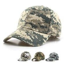 Cyfrowe męskie czapki bejsbolowe Army Tactical kamuflaż czapka Outdoor Jungle polowanie czapka typu Snapback dla kobiet kości tata kapelusz