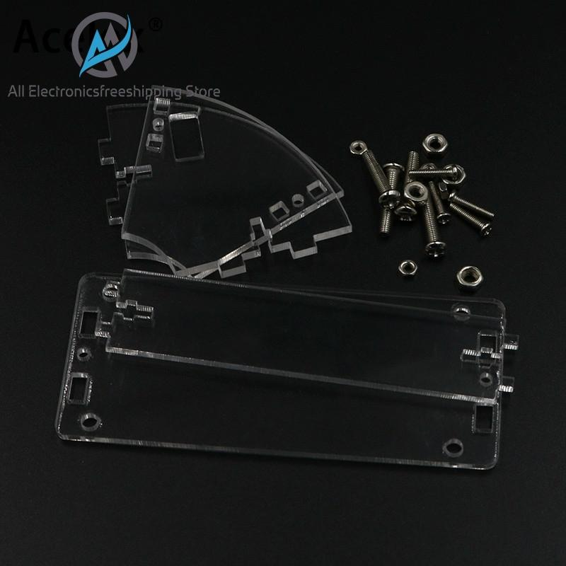 Transparent Acrylic Shell For LCD1602 LCD Screen With Screw/Nut LCD1602 Shell Case Holder (no With 1602 LCD)