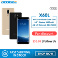 DOOGEE X60L 5.5 ''réseau 4G MTK6737 Quad Core 2 GB RAM 16 GB ROM 4G double caméra 13.0MP Android 7.0 3300 mAh Smartphone d'empreintes digitales