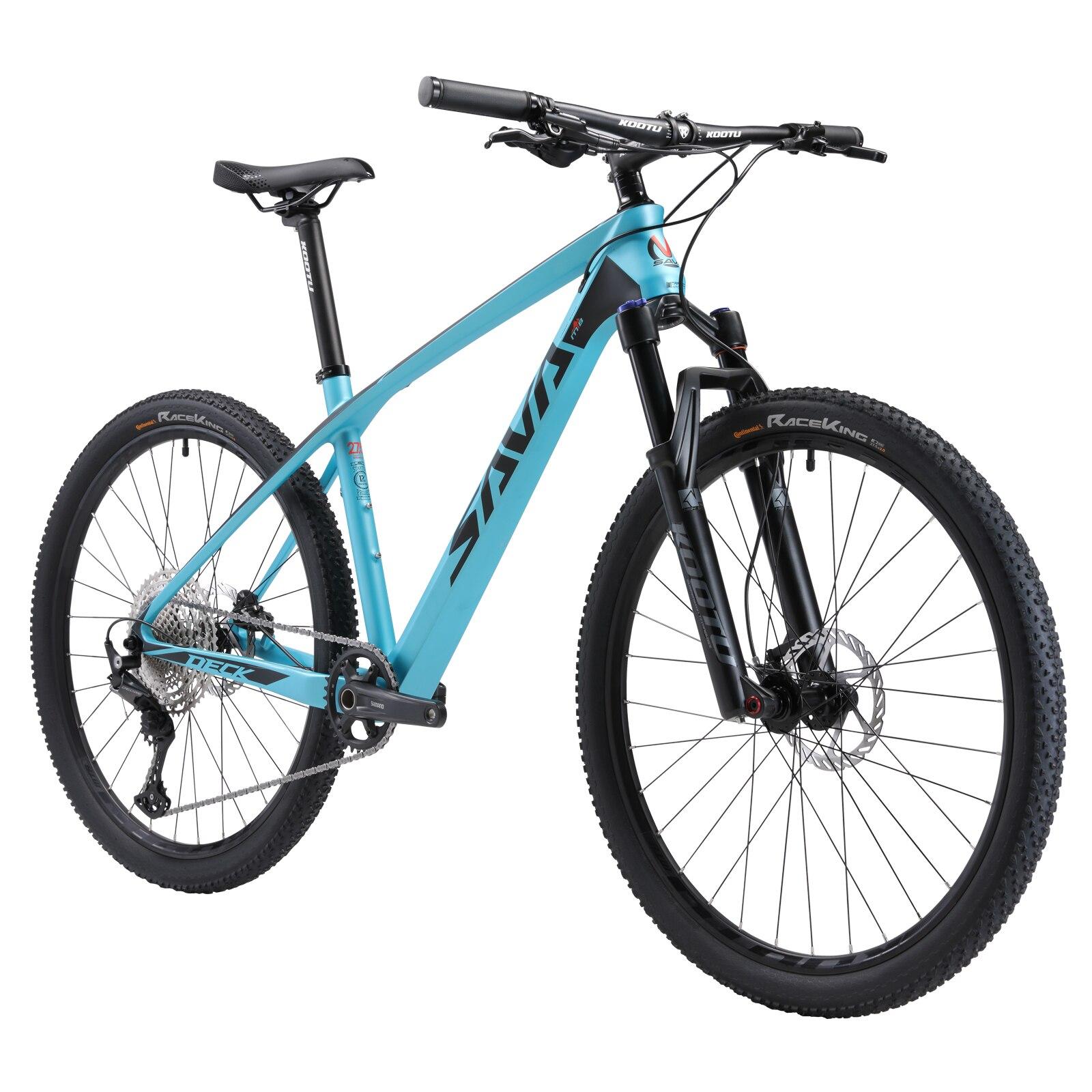 SAVA-Bicicleta de Montaña de 29 pulgadas para adulto, cuadro de bicicleta de carbono, mtb con SHIMANO DEORE M610, 30 velocidades, vtt velo vtt 29