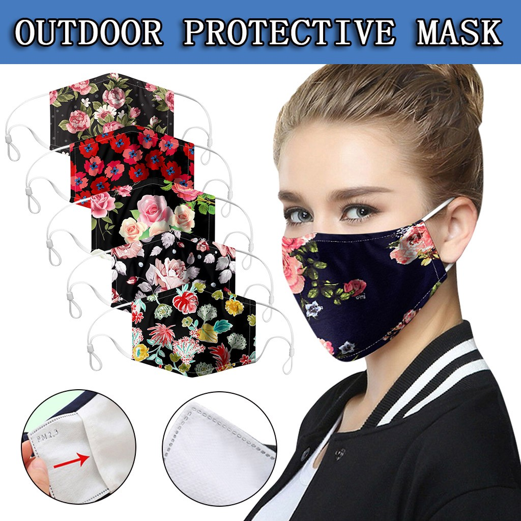 1PC Cartoon Printed Facemask Cotton Anti-pollution Cute Mouth Anti-dust Face Masks Breathable Respirator Masque Mascarillas