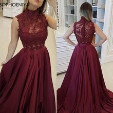 New Arrival A-Line Satin Purple Long evening dress abendkleider 2020 party dresses women evening gown Robe soiree dubai(China)