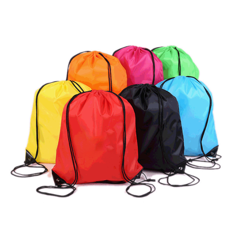 Cheap Drawstring Bags Plain String Bag Promotional Sports Backpack Pull Rope Various Color Gym School Polyester Outdoor