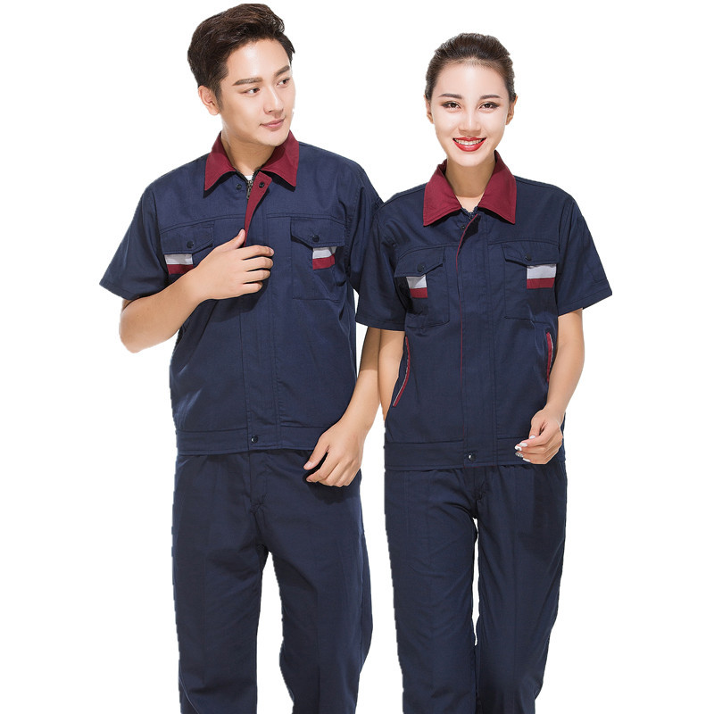 Summer Working Clothing Repairs Workwear Clothes Set Overall Workmen Coverall Wear-resistant Repairman Auto Car Workshop Uniform