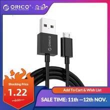 ORICO Cable Micro USB 2,0 para móvil, Cable de carga rápida para Samsung, Galaxy, Xiaomi, Huawei, HTC, LG, sincronización de datos