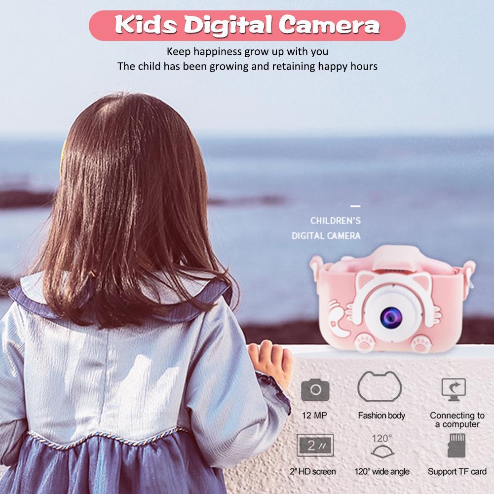 Ha41433e9ab4549eca8c357851fd92f9ca Mini Cartoon Kids Camera Creative Children's Camera HD Digital Camera Portable 1080P Camera For Kids Birthday Christmas Gift
