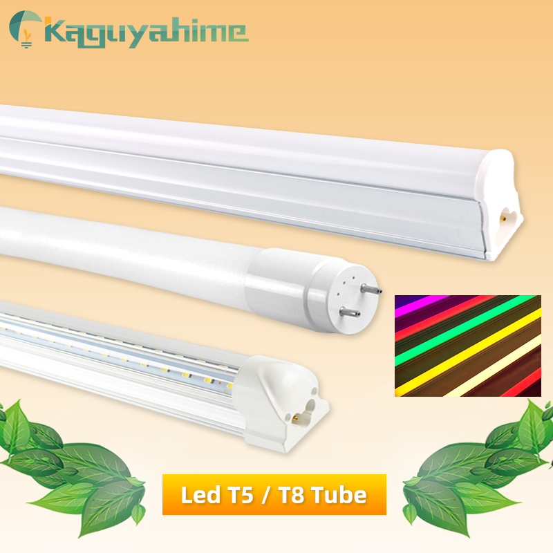 Kaguyahime T5 T8 LED Tube Lamp 6W 10W 20W RGB Fluorescent Tube 30CM 60CM LED T5 Tube Lighting AC 220V Integrated Home Light