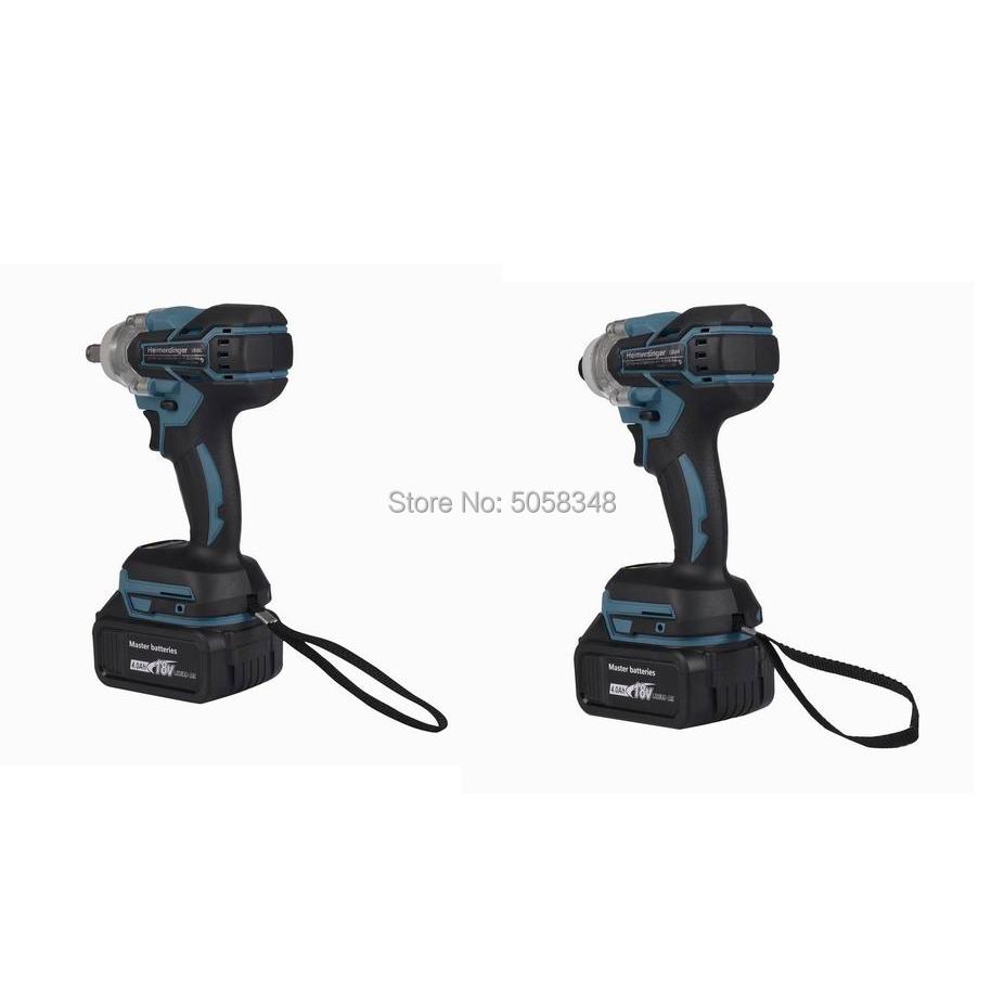 Tools : Electric Rechargeable Brushless Impact Wrench Cordless and brushless Impact driver drill combo with four 18V 4 0Ah Battery
