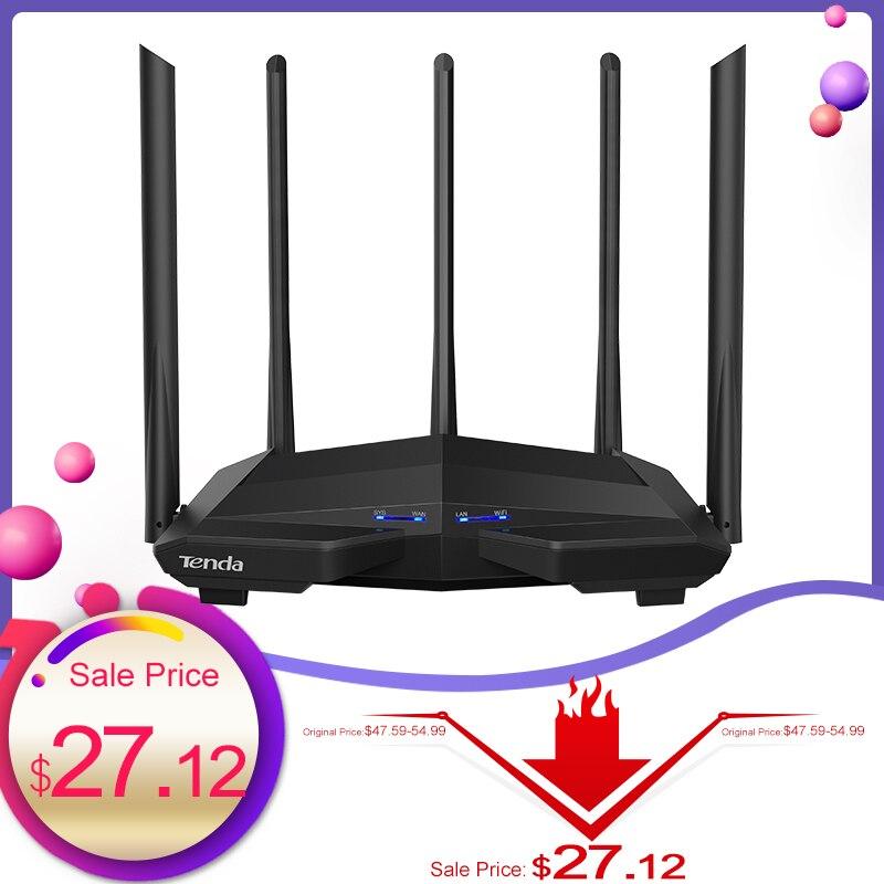 Tenda AC11 1200Mbps Wireless WiFi Router,1GHz CPU+128M DDR3,1WAN+3LAN Gigabit Ports, 5*6dBi High Gain Antennas, Smart APP Manage