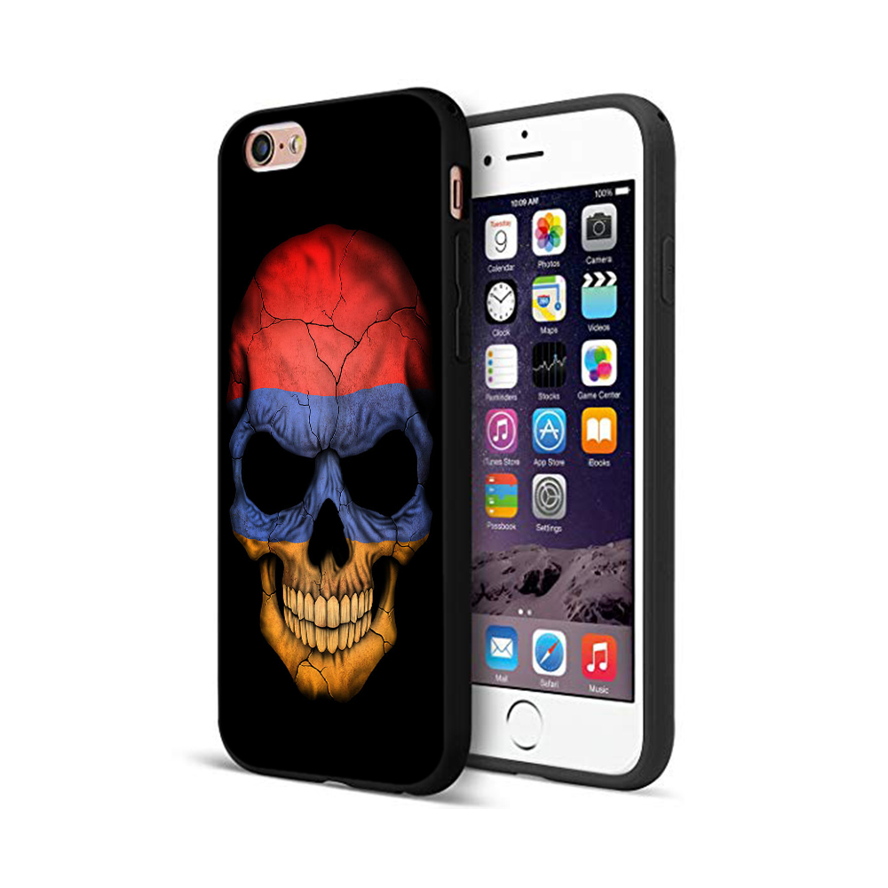 Black Tpu Case For Iphone 5 5S Se 6 6S 7 8 Plus X 10 Case Silicone Cover For Iphone XR XS 11 Pro MAX Case Armenia Flag