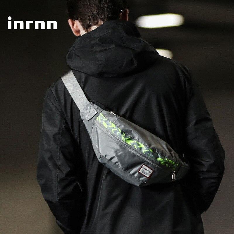 Inrnn Fanny Pack Fashion Teenager Waist Bag Hip-hop Rock Boys Girl Waist Pack Men Outdoor Sports Crossbody Bag Male Chest Bags