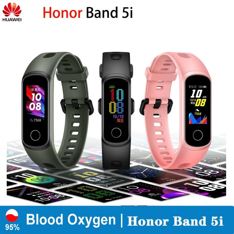 Original Huawei Honor Band 5i Smart Wristband AMOLED Huawe Honor Smart Watch Sleep Swimming Sport Tracker SpO2 Blood Oxygen