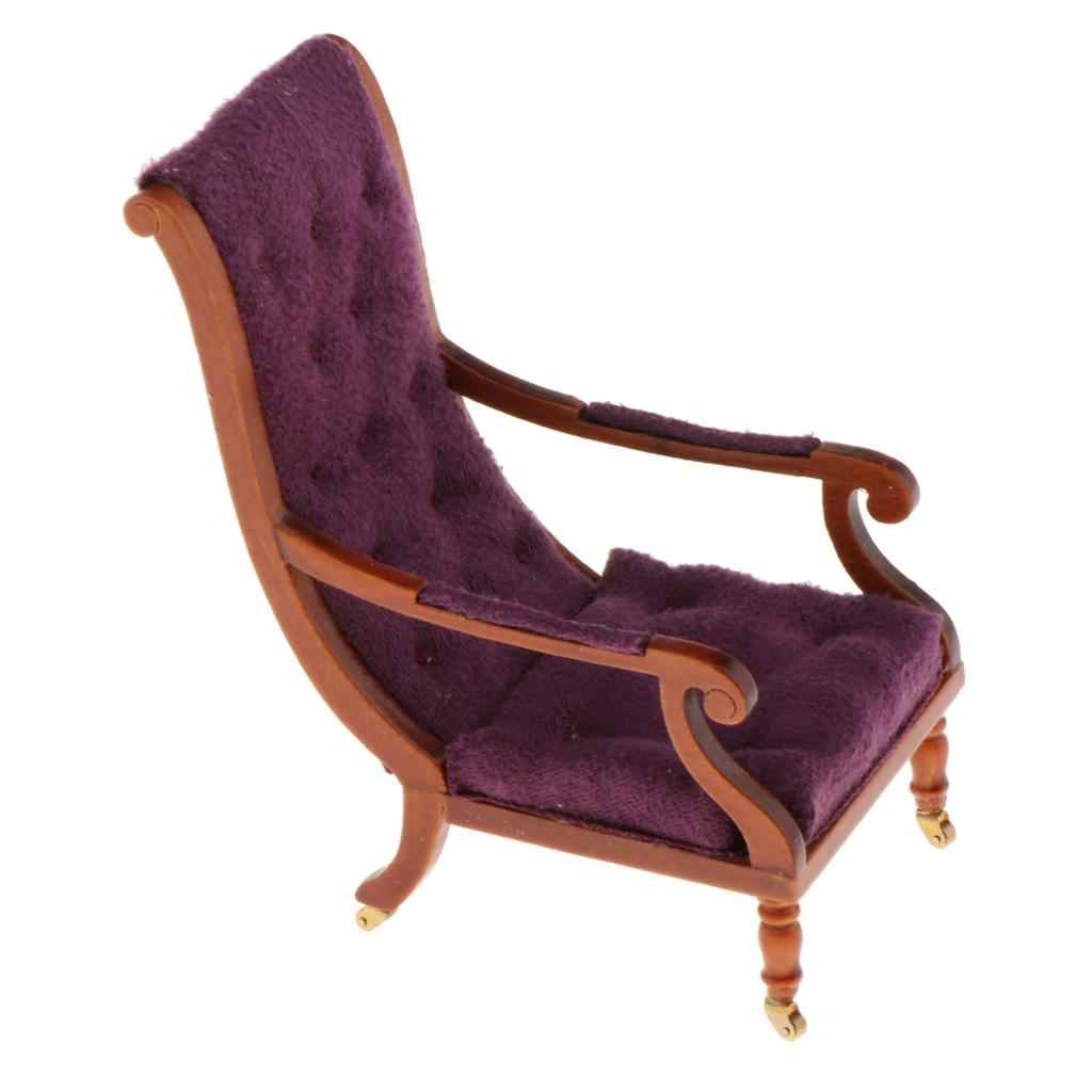 Details about  /Dollhouse Reclining Chair Family 1:12 Handcraft Settee Artistic with Wheels