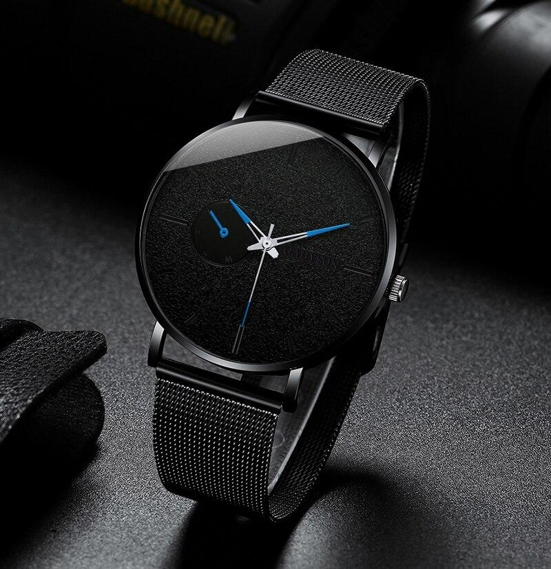 Ha414d69871c5450eadcca57b65345031y DONROSIN Men Casual Slim Black Mesh Steel Wrist Sport Watch Fashion Mens Watches Top Brand Luxury Quartz Watch Relogio Masculino