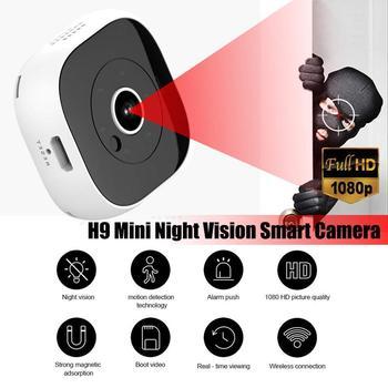 H9 Wifi Mini kamera sportowa kamera akcyjna DV mikro kamera IR noktowizor czujnik ruchu kamera nagrywanie audio wideo IP kamera WIFI tanie i dobre opinie YIKIXI CN (pochodzenie) 1080 p (full hd) H9 camera H9 WIFI Camera 8 x 3 8 x 2 5 CM 400 mAh as described