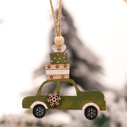 New Year Natural Wood Christmas Tree Ornament Creative Animal Christmas Party Pendant Car Decorations Pendant for Home 2019 4